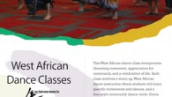 Special April Workshops Tuesday, April 28th: 8pm-9:30pm: West African Dance Workshop This West African dance workshop incorporates liberating movement, appreciation for community, and a celebration of life. The class involves...