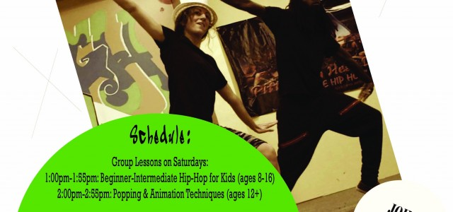 Kids & Adult classes! Hip-hop, popping, animation & more!