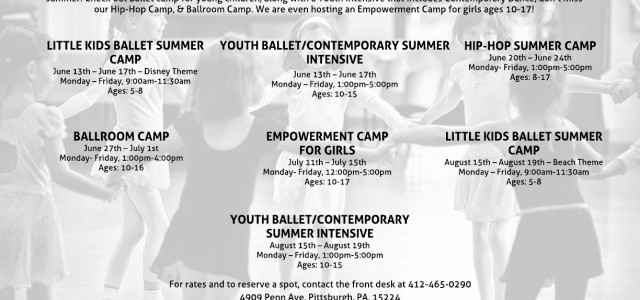 Looking for inspiring, confidence building summer camps for your kids? LS Dance Co. offers several week-long camps during the summer. Check out Ballet camp for young children, along with a […]