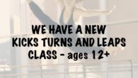 Kicks, Turns & Leaps Class Saturdays: 4:00pm to 5:00pm This class will follow jazz techniques, where the class will learn multiple exercises involving different combinations of kicks, turns and leaps. […]