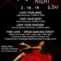 great valentines, dinner for two, bachata night, valentines day, date night, sensual bachata, for the love of bachata, salsa night, ideas for valentines day,