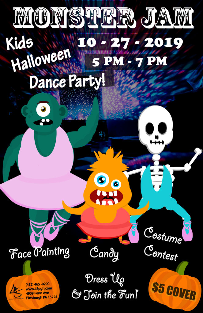 halloween party, kids party, kids classes, dance, kids dance, millennium dance, monster party